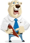 Polar Bear Cartoon Character - Notepad 3