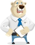 Polar Bear Cartoon Character - Notepad 4