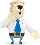 Polar Bear Cartoon Character - Oops