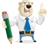 Polar Bear Cartoon Character - Pencil