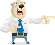 Polar Bear Cartoon Character - Point 2
