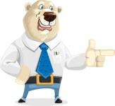 Polar Bear Cartoon Character - Point