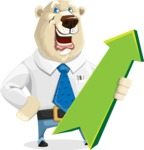 Polar Bear Cartoon Character - Pointer 1