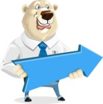 Polar Bear Cartoon Character - Pointer 2
