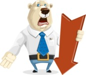 Polar Bear Cartoon Character - Pointer 3