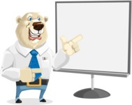 Polar Bear Cartoon Character - Presentation 2