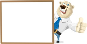 Polar Bear Cartoon Character - Presentation 5
