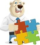 Polar Bear Cartoon Character - Puzzle