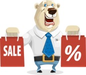 Polar Bear Cartoon Character - Sale 2