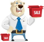 Polar Bear Cartoon Character - Sale