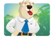 Polar Bear Cartoon Character - Shape 1