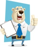 Polar Bear Cartoon Character - Shape 10