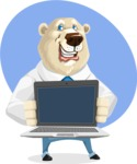 Polar Bear Cartoon Character - Shape 7