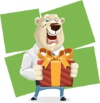 Polar Bear Cartoon Character - Shape 8