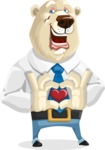 Polar Bear Cartoon Character - Show Love