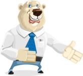 Polar Bear Cartoon Character - Show