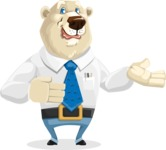 Polar Bear Cartoon Character - Showcase