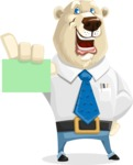 Polar Bear Cartoon Character - Sign 1