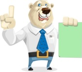 Polar Bear Cartoon Character - Sign 2