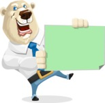 Polar Bear Cartoon Character - Sign 4