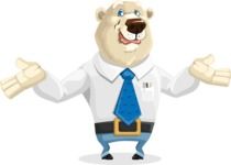 Polar Bear Cartoon Character - Sorry