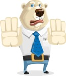 Polar Bear Cartoon Character - Stop 2