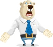 Polar Bear Cartoon Character - Stunned