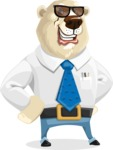 Polar Bear Cartoon Character - Sunglasses