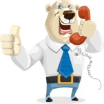 Polar Bear Cartoon Character - Support