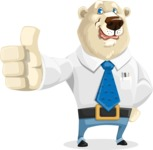 Polar Bear Cartoon Character - Thumbs Up