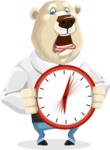 Polar Bear Cartoon Character - Time is Yours