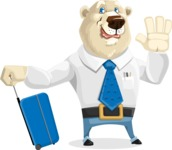Polar Bear Cartoon Character - Travel 1