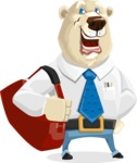 Polar Bear Cartoon Character - Travel 2