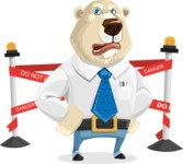 Polar Bear Cartoon Character - Under Construction 2