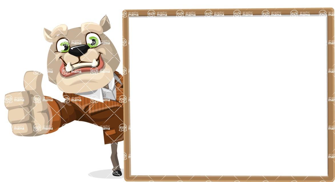 Bulldog Cartoon Vector Character AKA Baron Bulldog - Presentation 5