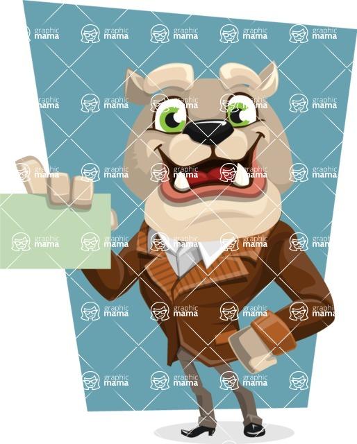 Bulldog Cartoon Vector Character AKA Baron Bulldog - Shape 5