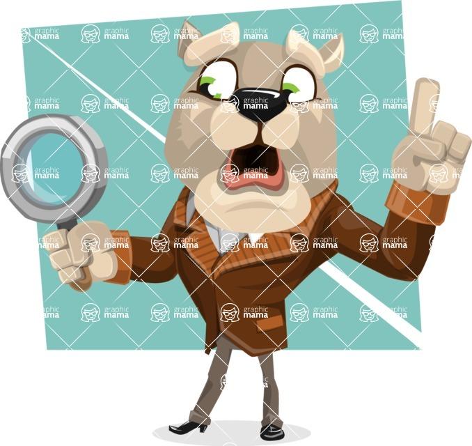 Bulldog Cartoon Vector Character AKA Baron Bulldog - Shape 8