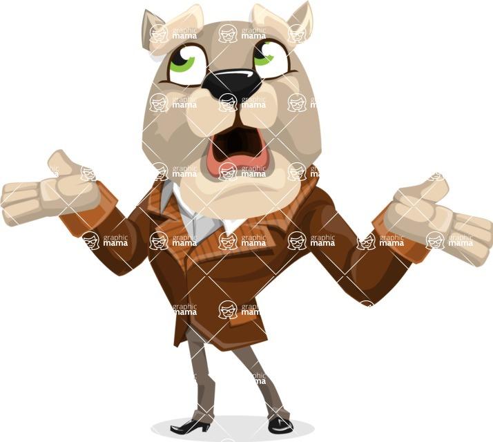 Bulldog Cartoon Vector Character AKA Baron Bulldog - Lost