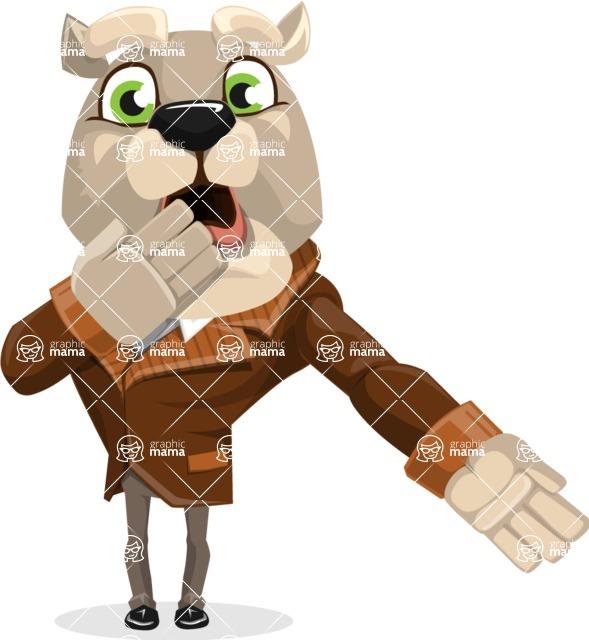 Bulldog Cartoon Vector Character AKA Baron Bulldog - Oops