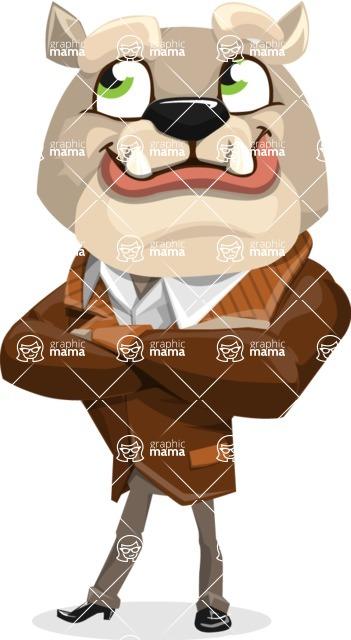 Bulldog Cartoon Vector Character AKA Baron Bulldog - Petient