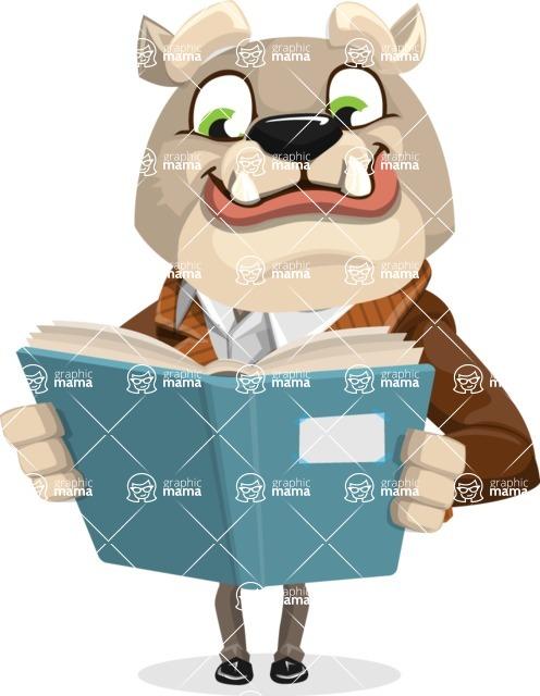 Bulldog Cartoon Vector Character AKA Baron Bulldog - Book 1