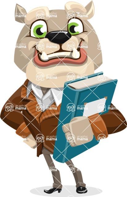 Bulldog Cartoon Vector Character AKA Baron Bulldog - Book 3