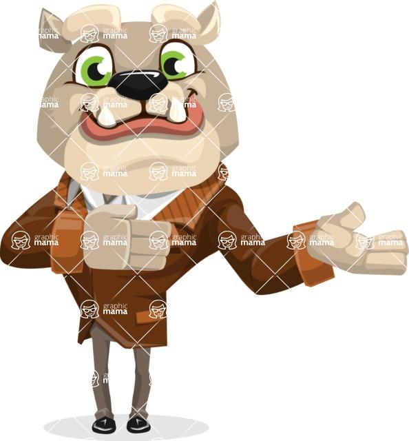 Bulldog Cartoon Vector Character AKA Baron Bulldog - Showcase