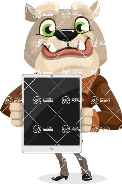 Bulldog Cartoon Vector Character AKA Baron Bulldog - iPad 1