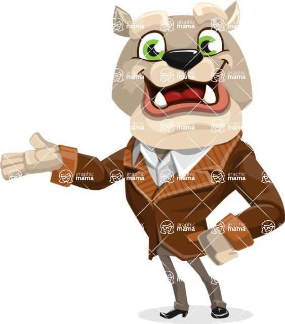 Bulldog Cartoon Vector Character AKA Baron Bulldog - Showcase 2