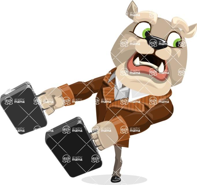 Bulldog Cartoon Vector Character AKA Baron Bulldog - Briefcase 3
