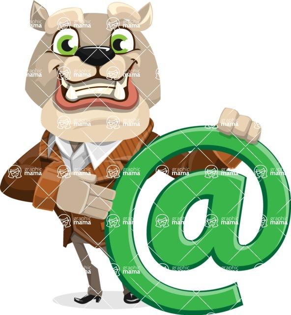 Bulldog Cartoon Vector Character AKA Baron Bulldog - Email