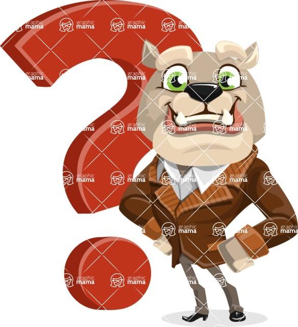 Bulldog Cartoon Vector Character AKA Baron Bulldog - Question