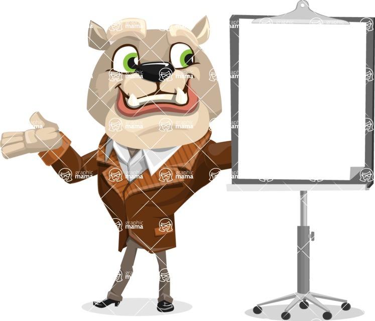 Bulldog Cartoon Vector Character AKA Baron Bulldog - Presentation 1