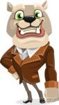 Bulldog Cartoon Vector Character AKA Baron Bulldog - Normal